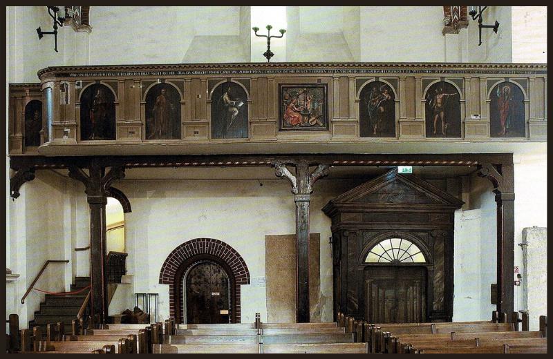 Interjera gleznojumu loma luterāņu dievnama iekštelpas apdarē. Doma baznīca 16., 17. gadsimtos.